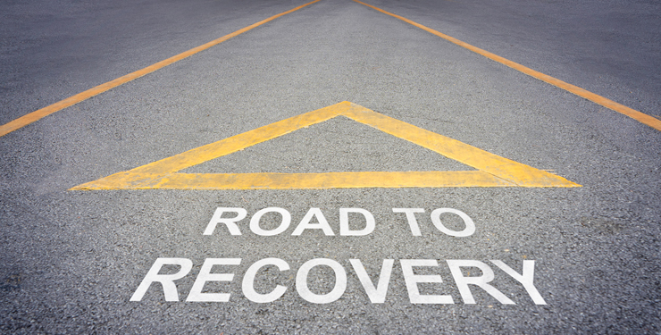 Road to recovery direction concept